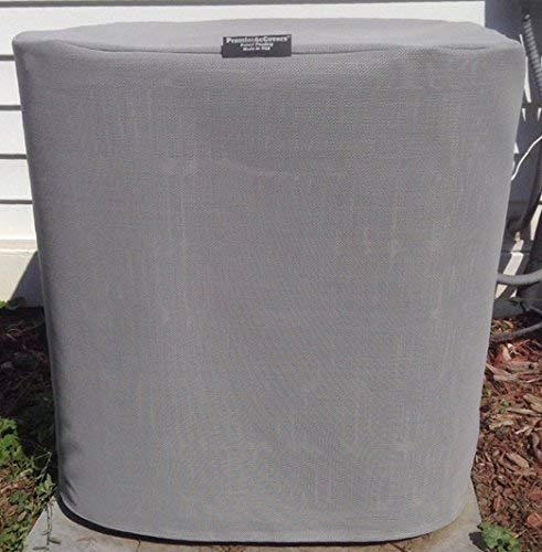 PremierAcCovers - Air Conditioner Covers - Winter Breathable Full AC Cover- 32x32x32ht - Gray