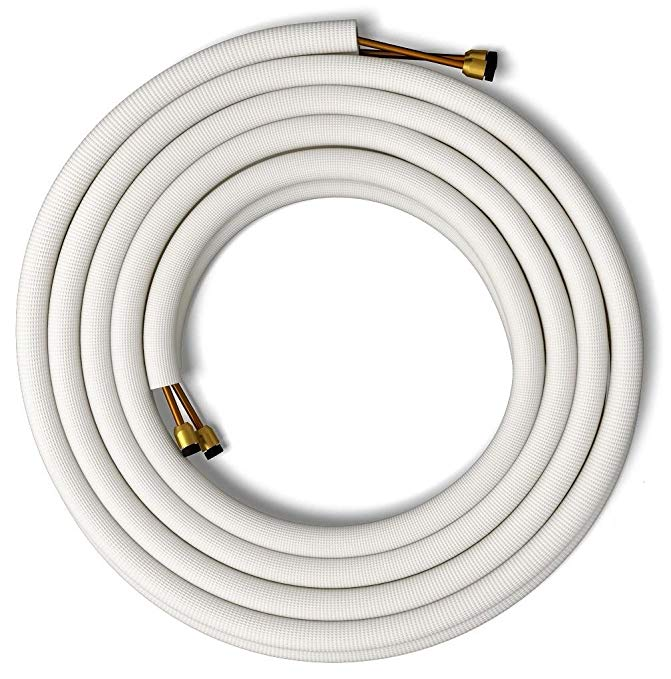 Senville 25' Insulated Copper Pipes for Air Conditioning - 1/4