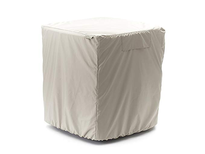 CoverMates - Air Conditioner Cover - Fits 24 Width x 24 Depth x 30 Height - Elite - 300 Denier Polyester - Covered Mesh Vent For Airflow - Back Opening - 3 YR Warranty - Water Resistant - Khaki