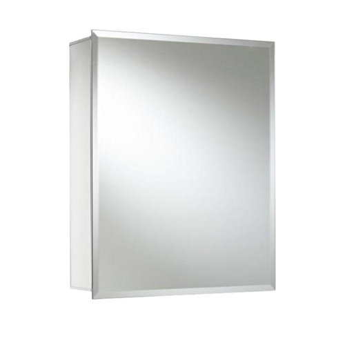 Croydex WC101169YW 20-Inch x 16-Inch Recessed or Surface Mount Medicine Cabinet with Hang 'N' Lock, Aluminum by Croydex