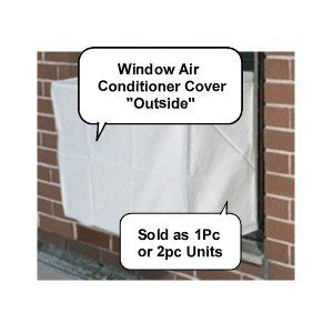 Window air conditioner covers - 2pc SET Outside/Inside Covers - 28w, 20h, 20d and 28w, 20h, 4d -GRAY