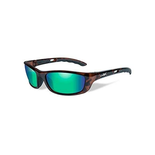Wiley X P-17, Gloss Demi Frame, Polarized Emerald Mirror Lens by Wiley X