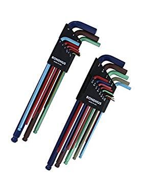 Bondhus 69600 Ball End Double Pack L-Wrench Set with ColorGuard, 13 Piece by Bondhus