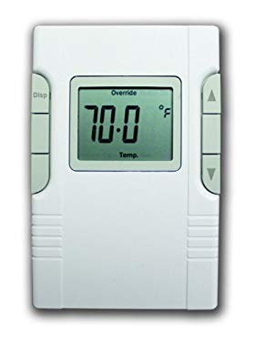 King EC-R Electronic Line-Voltage Thermostat, White by King Electric