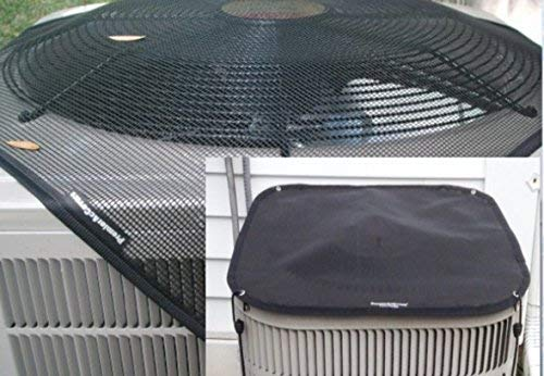 Package of TWO Outdoor Air Conditioner Covers - All Year Protection For Your AC Unit - Winter and Summer AC Covers - Square - 36x36 -Black