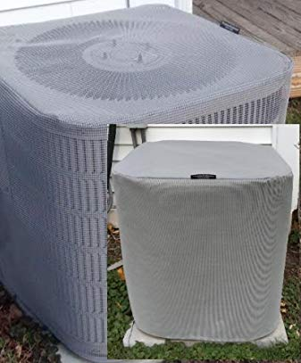 Air Conditioner Covers - Total Protection for Year Round - Summer and Winter Premier Full AC Covers 24X24X24 - Gray