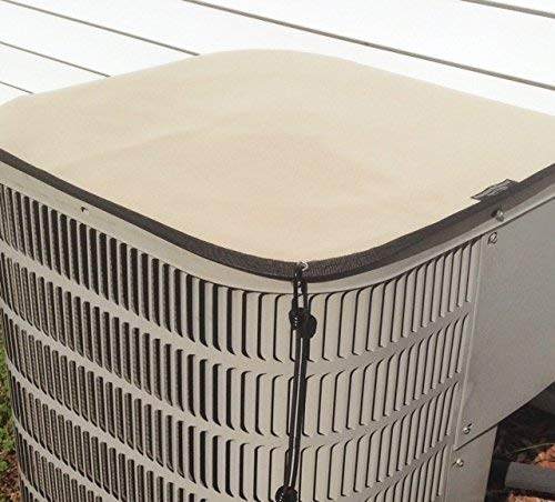 Heavy Duty Waterproof Trane Air Conditioner Cover - Premier Top Cover - 37x34 - Almond