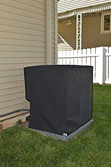 Comp Bind Technology Waterproof Cover for Air Conditioning System Unit York Model YFE60B21S. Outdoor Black Nylon Cover By Dimensions 38''W x 34.5''D x 39.5''H