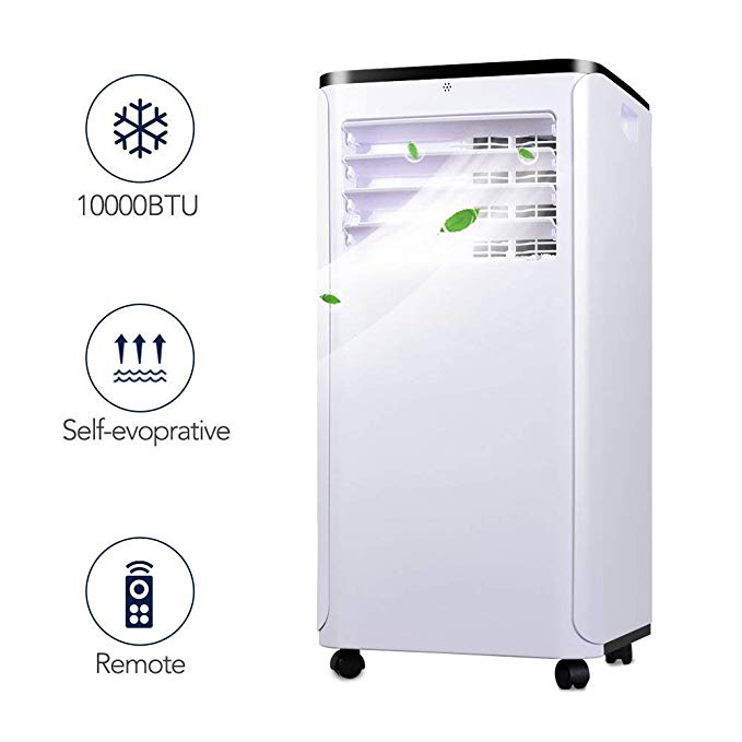 Portable Air Conditioner - Quieter Cold Air Conditioner w/ Remote Control, 10000BTU Portable AC, Versatile Design & Multipurpose, Class A Energy Saving Conditioner Used with Windows, 1 Year Warranty