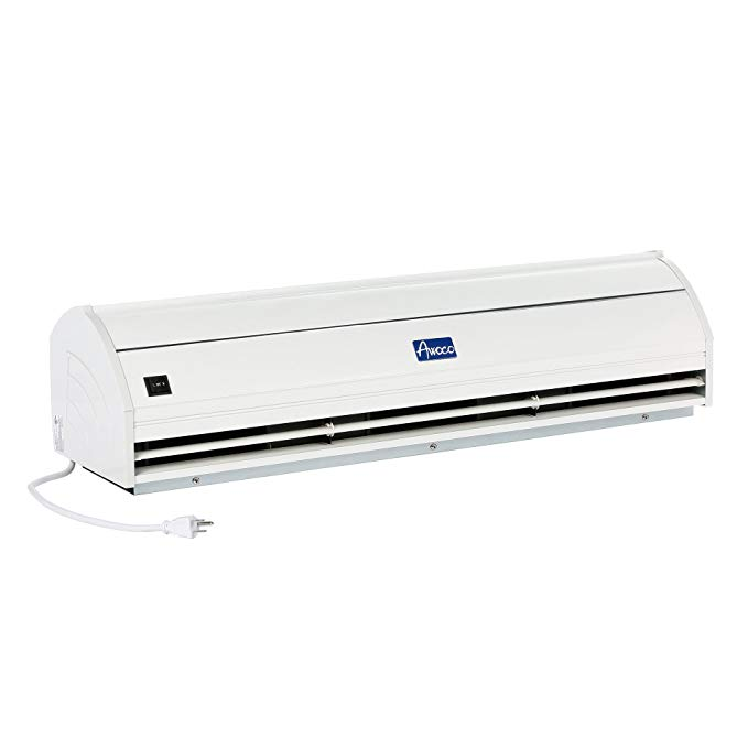 Awoco Elegant 900 CFM 2 Speeds Indoor Air Curtain with Heavy Duty Door Switch, 36-Inch