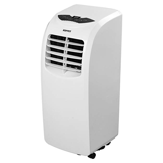 KUPPET 10000BTU Portable Air Conditioner Remote Control Rooms up to 200-Sq. Ft. Quiet-Cooling Fan-Dehumidifier-A/C RC- Energy Saving