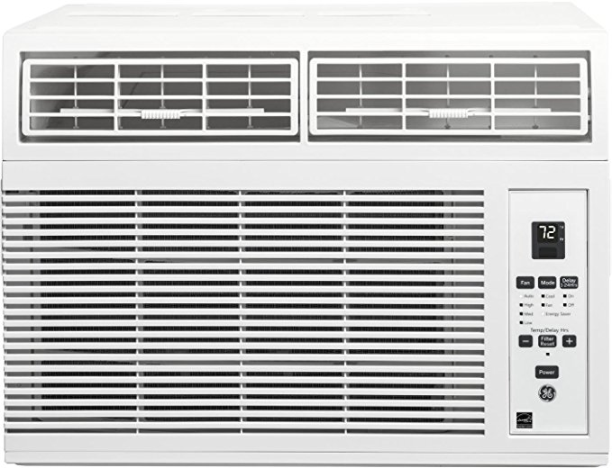 GE AHM08LW Energy Star Qualified Window Air Conditioner with 8,000 BTU Cooling Capacity in White