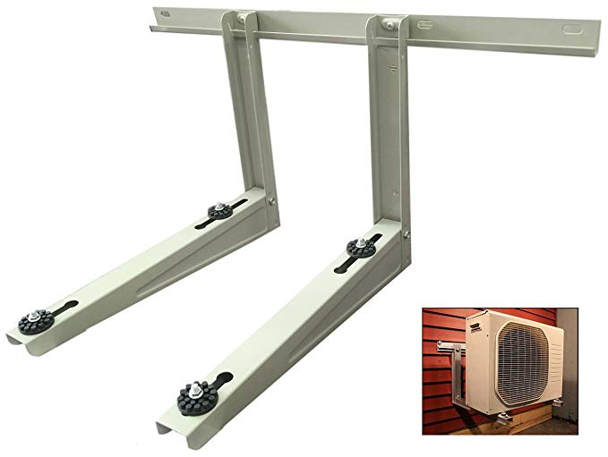 Outdoor Mounting Bracket for Ductless Heat Pump Air Conditioner Systems Condenser Mounting Rack Hold Up To 300 LBS