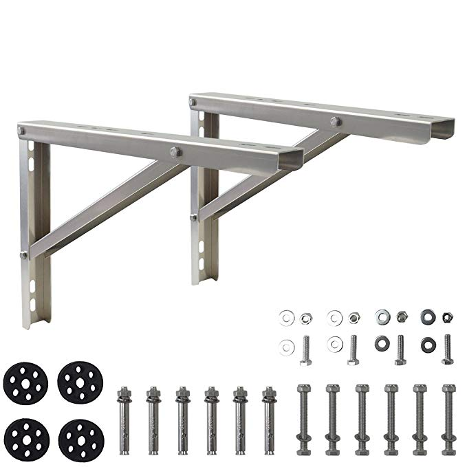 Homydom Mounting Bracket for Ductless Mini Split Air Conditioner Heat Pump 9000-36000 Btu Condenser, Rust Free AluminiumAlloy