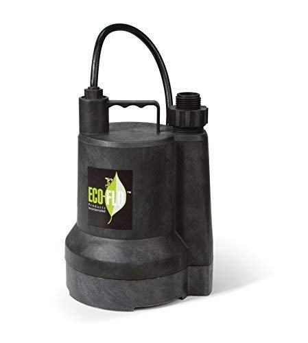 ECO-FLO Products SUP55 Manual Submersible Utility Pump, 1/4 HP, 1,980 GPH by ECO-FLO Products