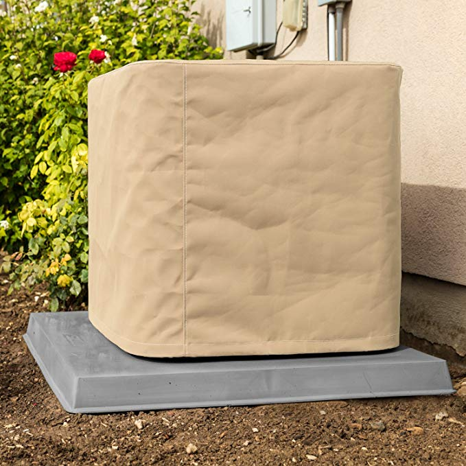 Custom Air Conditioner Cover - Made-to-Order for your exact Make & Model Number - Premium Marine Canvas - Tan - Made in the USA - 5-year Warranty